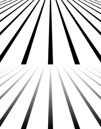horizont: Merging, converging, vanishing lines. 3d empty space. Illustration