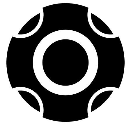 move controller: Controller center button group template. Remote controller center button symbol