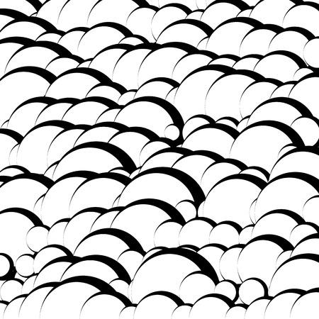 garabatos: Textura  patrón artístico abstracto con líneas onduladas, óvalos superpuestos