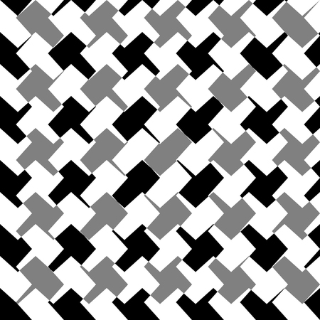 abstractionism: Abstract repeatable geometric monochrome (grayscale) pattern, texture Illustration