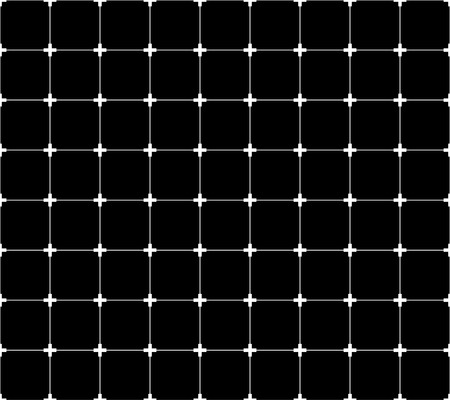 quadrant: Repeatable monochrome grid, mesh with crosses at intersections.