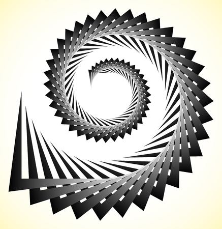 Abstract edgy spiral, volute with triangular shapes Illustration