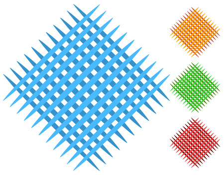 Grid, mesh patch elements in 4 color Illustration