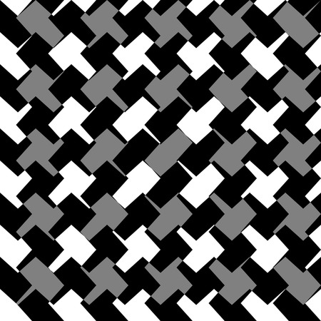 grayscale: Abstract repeatable geometric monochrome (grayscale) pattern, texture Illustration
