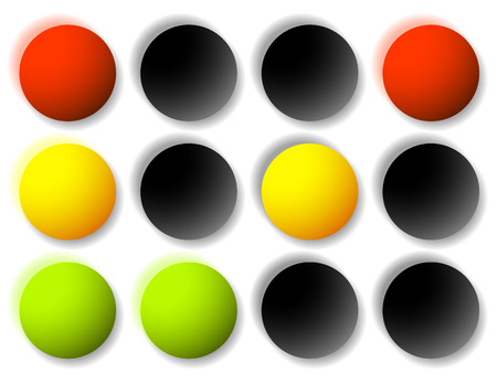 trafficlight: Traffic light icons, traffic lamp illustrations – Transportation, driving, traffic, control concepts