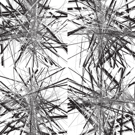 disturbance: Geometric art with random chaotic intersecting lines. Set of 4 version.
