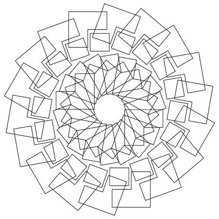 centric: Geometric flower - Circular pattern lotus flower, mandala, motif