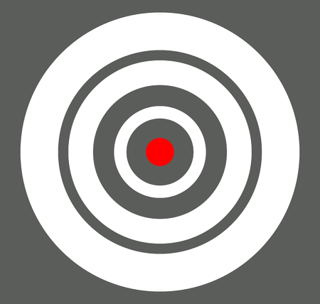 focal: Background with target, reticle, crosshair symbol. Icon for focal point, accuracy, target range, precision concepts