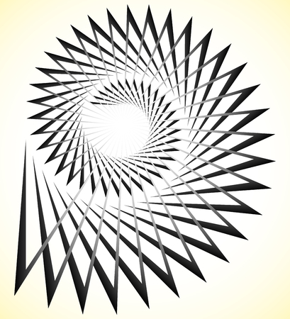 volute: Abstract edgy spiral, volute with triangular shapes Illustration