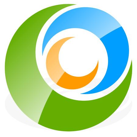 segmented: icon shape with 3 circles - Spiral, vortex