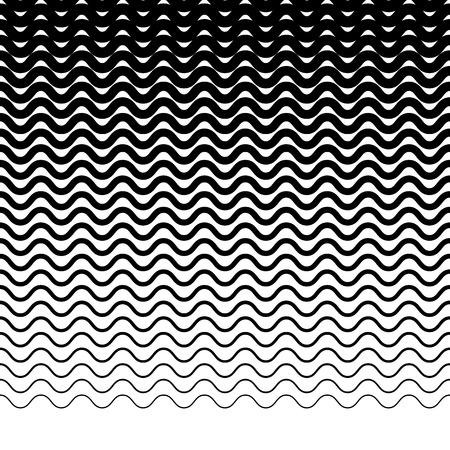 lineas horizontales: líneas horizontales onduladas paralelas en zig-zag - patrón geométrico horizontal repetible Vectores