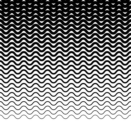 undulating: Parallel wavy-zigzag horizontal lines - Horizontally repeatable geometric pattern