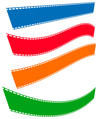 Filmstrips for photography, multimedia or related topics Illustration