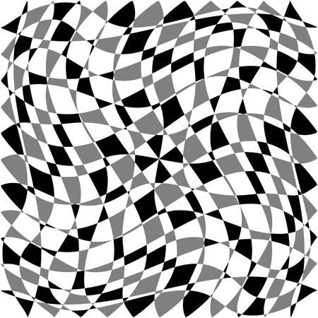 deformed: Distorted, deformed asymmetric texture. Tessellating rough, edgy shapes forming a rough texture. Illustration