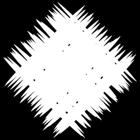 inverse: Abstract monochrome patch with random and irregular lines Illustration