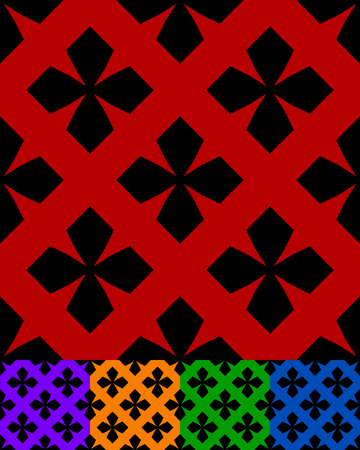 simplified design of a classic folk textile, embroidery, carpet pattern - obsolete folklore art symbols, motifs specific to remote rural areas. textile swatch with rough, modest decoration.