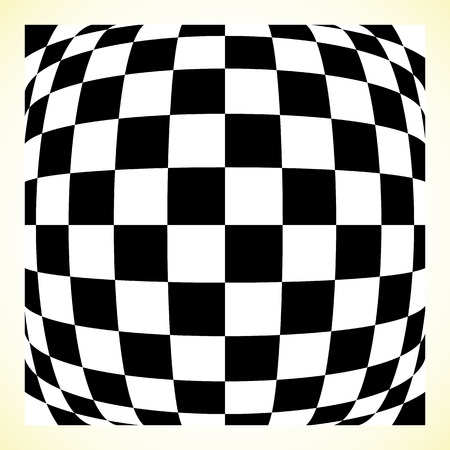 distortion: Checkered pattern (chess board, checker board) with distortion