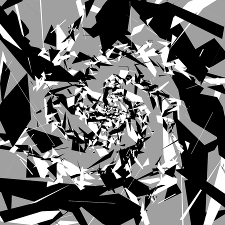 shards: Abstract art with random, chaotic shapes. Artistic illustration.