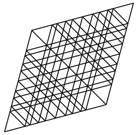 reticular: lozenge, rhombus artistic geometric element with grid, mesh