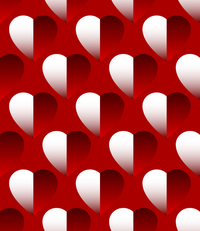 haert: Seamlessly repeatable pattern - background with shaded heart
