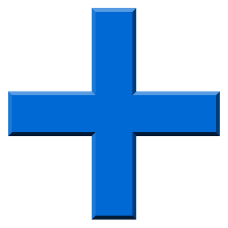 infirmary: Colored plus symbol, plus, cross icon with 3d effect.