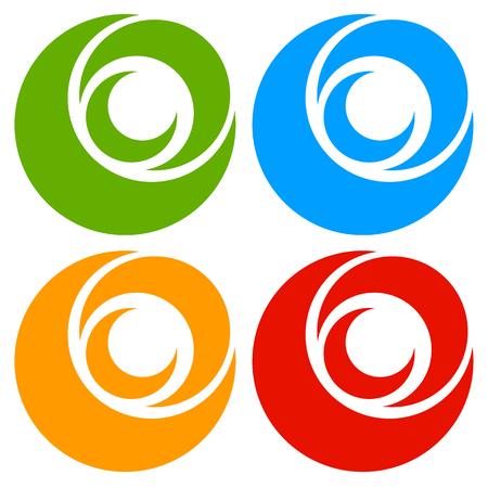 gyration: icon shape with 3 circles - Spiral, vortex .