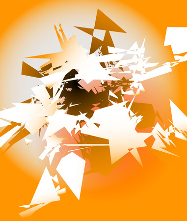 shard: Abstract shattered digital art with random edgy shards. Digital art abstract illustration