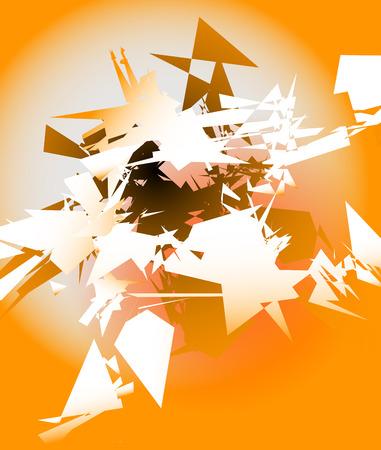 Abstrakte zerschmettert digitale Kunst mit zufälligen kantigen Scherben. Digitale Kunst abstrakte Darstellung