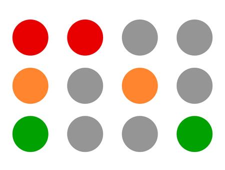 Traffic light icons, traffic lamp illustrations – Transportation, driving, traffic, control concepts