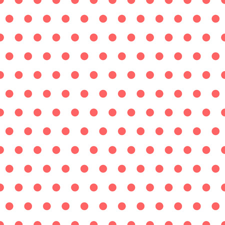 polkadots: Basic repeatable white plus one color pattern. Simple geometric pattern for backgrounds. Illustration