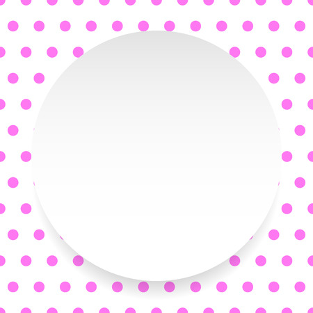 polkadots: Blank circle, sheet, disc over polkadot pattern  Background is seamless Illustration