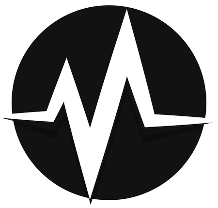 vibrations: ecg, ekg line. pulse, beat, heartbeat icon