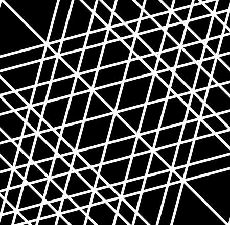 grid, mesh of irregular random lines. artistic geometric image, black and white abstract illustration Illustration