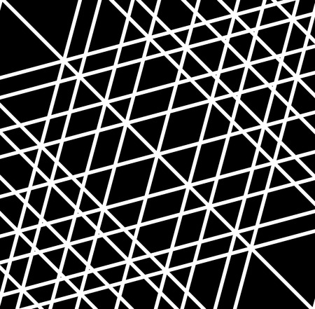 grid, mesh of irregular random lines. artistic geometric image, black and white abstract illustration Illustration