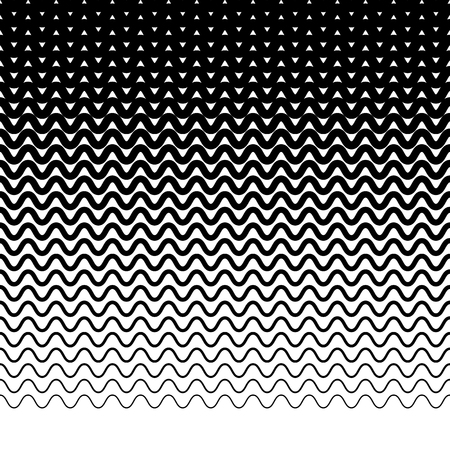 billow: Parallel wavy-zigzag horizontal lines - Horizontally repeatable geometric pattern