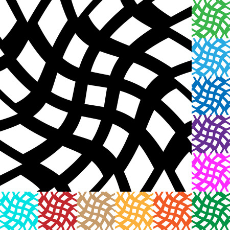 Grid, mesh with distortion. irregular grid in many colors