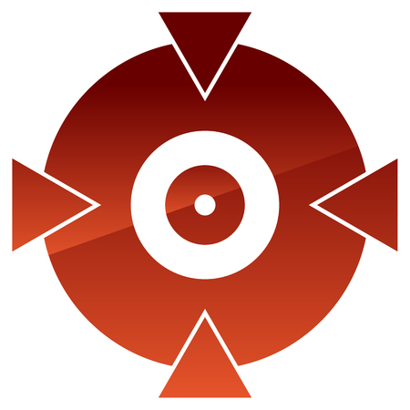 marksmanship: Crosshair, target mark shape for pinpoint, bullseye and alignment concepts Illustration