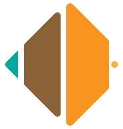 square shape: Segmented square icon,   shape. Square cut in fourth.