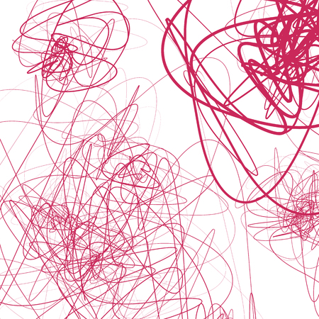snaky: Random sketchy lines abstract monochrome background, pattern