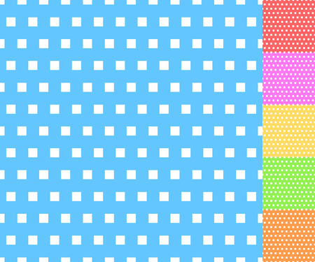 Basic repeatable white plus one color pattern. Simple geometric pattern for backgrounds. Illustration