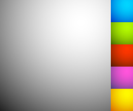 Set of 6 shaded, illuminated backgrounds, backdrops in square format Stock Illustratie