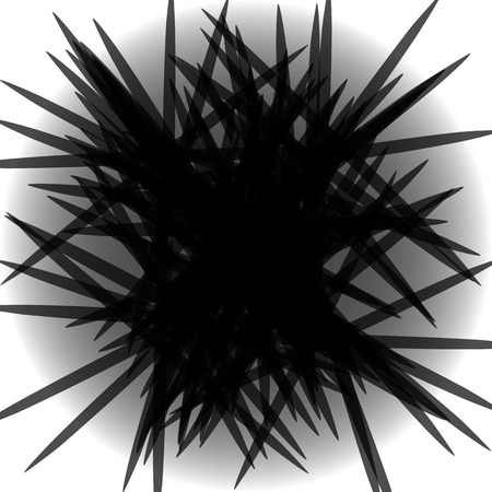 Geometric monochrome artistic illustration with intersecting shapes
