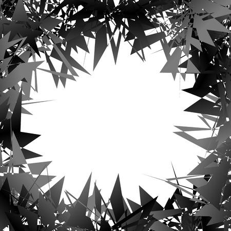splinter: Random edgy shapes at artworks edges. Gometric frame, background