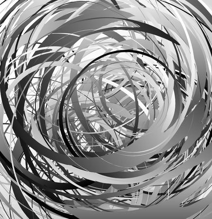 Geometric abstract art with random irregular spirals Vektoros illusztráció