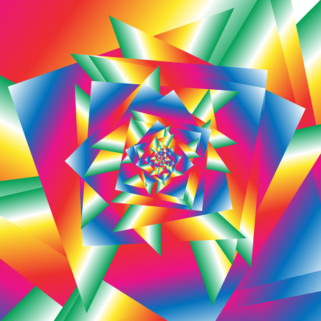 irregular shapes: Chaotic texture, pattern with refraction-like effect. Mass of irregular edgy geometric shapes. Unreal multicolored abstract illustration. Illustration