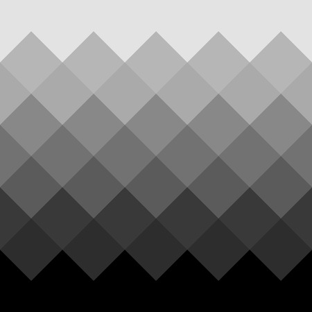 Monochrome grayscale geometric pattern, background. Seamlessly repeatable. Illustration
