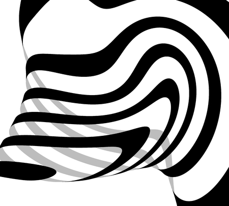 Abstract freeform lines. Squiggly line, curvy lines abstract illustration Illustration