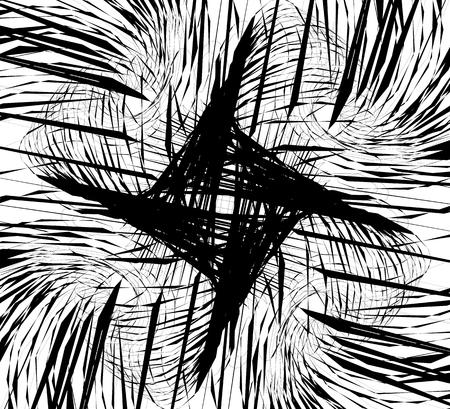 squiggle: Random intersecting lines, geometric monochrome art. Random chaotic, curvy lines.
