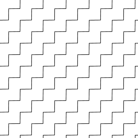 monocrome: Wavy, zigzag parallel lines repeatable pattern