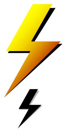 amperage: Lighting bolt, sparkle shape. Lighting bolt, electricity icon.